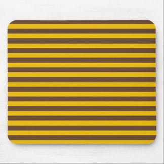 ブラウンおよび金ゴールドは縞で飾ります マウスパッド