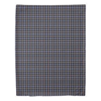 ブラウンおよび青い格子縞のマッケンジーによって風化させるタータンチェック 掛け布団カバー