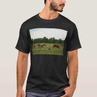 ブラウンおよびHerefordの白い牛 Tシャツ