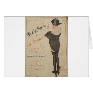 ブラウンからRaphael Kirchnerによるブロンドの女性への カード