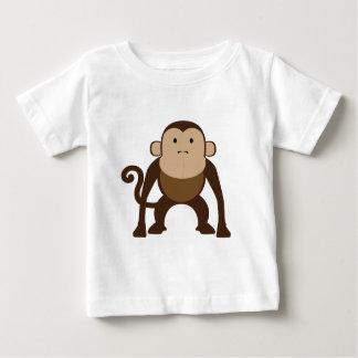 ブラウンかわいい猿 ベビーTシャツ