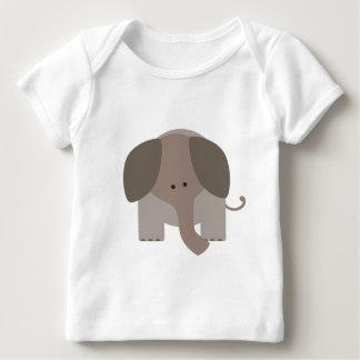 ブラウンかわいい象 ベビーTシャツ