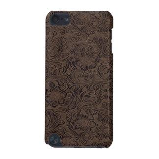 ブラウンか黒い用具の革プリントパターンSpeck iPod iPod Touch 5G ケース