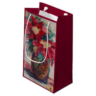 ブラウンのつぼのポインセチア スモールペーパーバッグ
