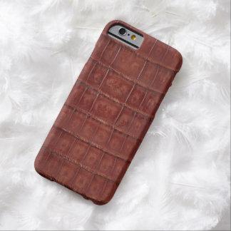 ブラウンのわに皮のプリント#35 BARELY THERE iPhone 6 ケース