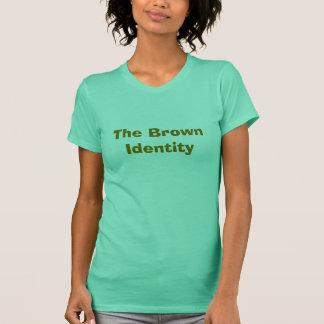 ブラウンのアイデンティティ Tシャツ