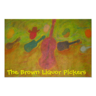ブラウンのアルコール飲料のピッカーポスター ポスター