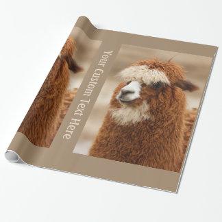 ブラウンのアルパカのカスタムな包装紙 ラッピングペーパー