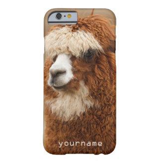ブラウンのアルパカの習慣のケース BARELY THERE iPhone 6 ケース
