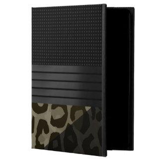 ブラウンのエレガントな黒いチータ POWIS iPad AIR 2 ケース
