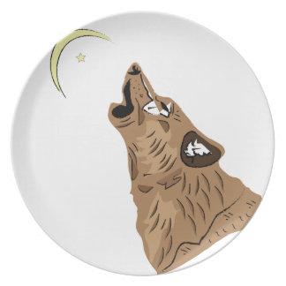 ブラウンのオオカミ プレート
