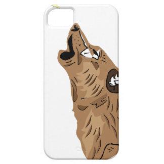ブラウンのオオカミ iPhone SE/5/5s ケース