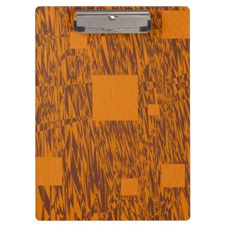 ブラウンのオレンジ注意深い浮遊物の抽象芸術の正方形の網 クリップボード