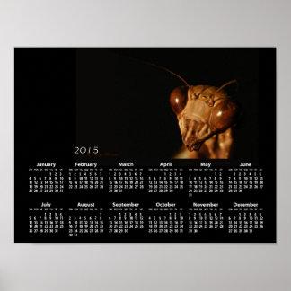 ブラウンのカマキリのカレンダーの~のプリント ポスター