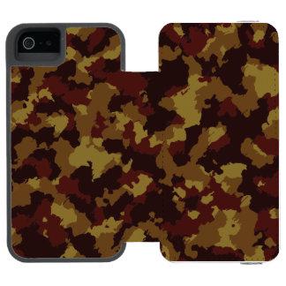 ブラウンのカムフラージュ INCIPIO WATSON™ iPhone 5 財布 ケース