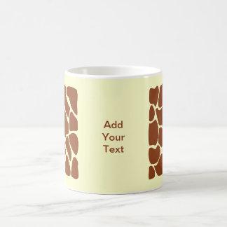 ブラウンのキリンのプリントパターン コーヒーマグカップ
