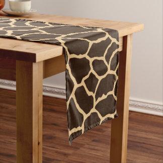 ブラウンのキリンの皮パターン ショートテーブルランナー