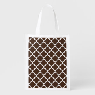 ブラウンのクラシックな再使用可能な買い物袋 エコバッグ