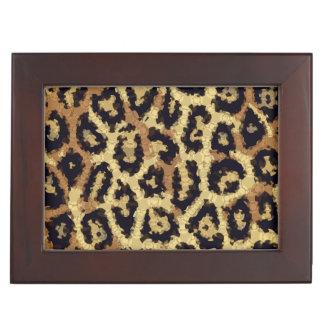 ブラウンのクリーム色のチータの抽象芸術 宝箱