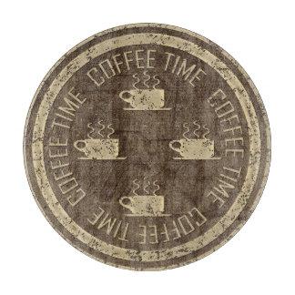 ブラウンのコーヒー時間金ゴールド カッティングボード