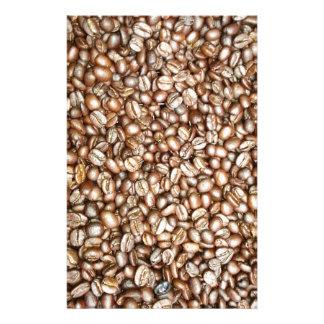 ブラウンのコーヒー豆のデザイン 便箋