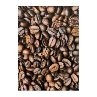 ブラウンのコーヒー豆の背景 アクリルウォールアート
