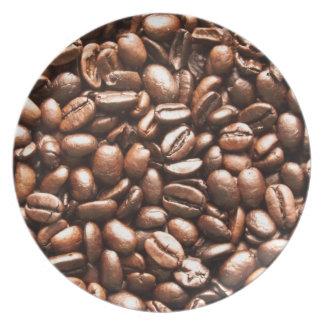 ブラウンのコーヒー豆 プレート