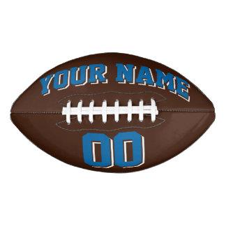 ブラウンのサファイアの青および白くカスタムなフットボール アメリカンフットボール