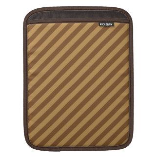 ブラウンのストライプパターン iPadスリーブ