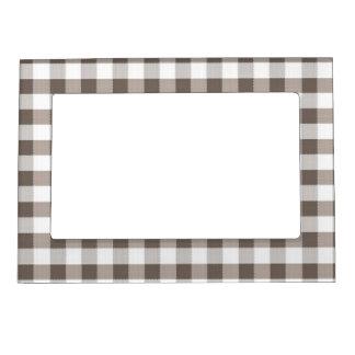 ブラウンのテーブルクロスパターン マグネットフレーム
