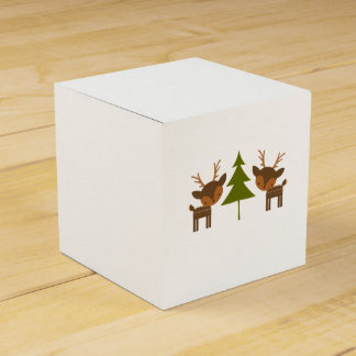 ブラウンのトナカイのクリスマスのギフト用の箱 フェイバーボックス