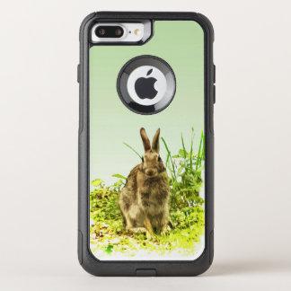 ブラウンのバニーウサギのオッターボックスのiPhone 7のプラスの場合 オッターボックスコミューターiPhone 8 Plus/7 Plusケース