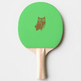 ブラウンのフクロウの卓球ラケット 卓球ラケット