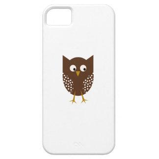 ブラウンのフクロウの電話箱 iPhone SE/5/5s ケース