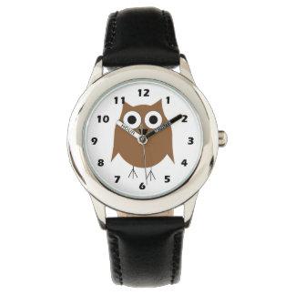 ブラウンのフクロウ 腕時計