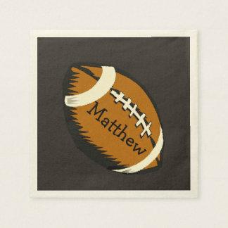 ブラウンのフットボールは紙ナプキンを遊ばします スタンダードカクテルナプキン