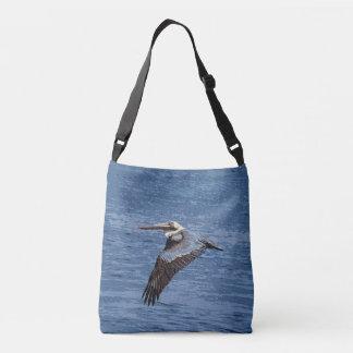 ブラウンのペリカンの鳥の野性生物の動物の海のバッグ クロスボディバッグ
