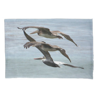 ブラウンのペリカンの鳥動物の野性生物の枕カバー 枕カバー