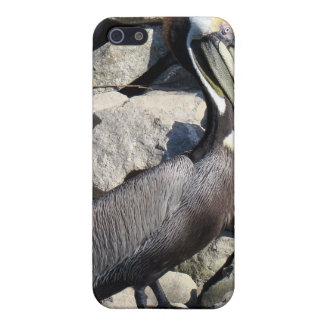 ブラウンのペリカン iPhone SE/5/5sケース