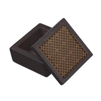 ブラウンのモダンな格子木製のギフト用の箱 ギフトボックス