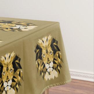 ブラウンのライオン テーブルクロス