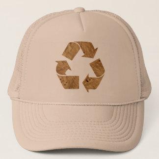 ブラウンのリサイクルの印 キャップ