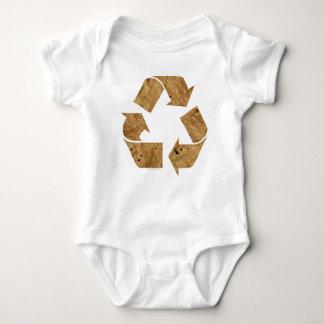 ブラウンのリサイクルの印 ベビーボディスーツ