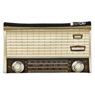 ブラウンのレトロのラジオ コスメティックバッグ