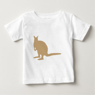 ブラウンのワラビー ベビーTシャツ