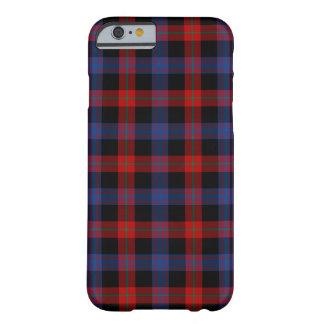 ブラウンの一族のロイヤルブルーおよび赤のタータンチェック BARELY THERE iPhone 6 ケース
