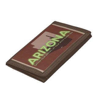ブラウンの三重ナイロン財布のアリゾナの精神