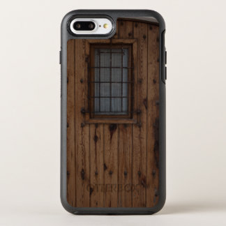 ブラウンの古いKnotty木のドア オッターボックスシンメトリーiPhone 8 Plus/7 Plusケース
