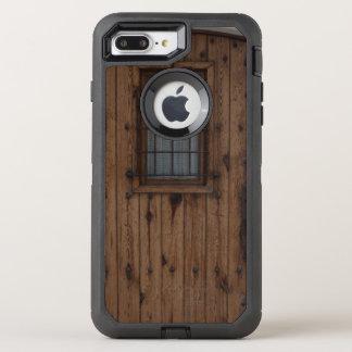 ブラウンの古いKnotty木のドア オッターボックスディフェンダーiPhone 8 Plus/7 Plusケース