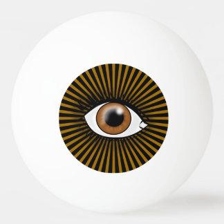 ブラウンの太陽のな目 卓球ボール